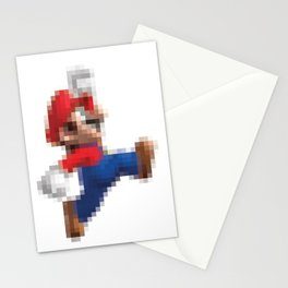 Super Mario Pixel Poster Stationery Cards