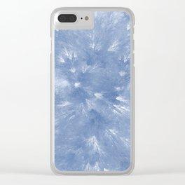 Cyan Splendor Clear iPhone Case