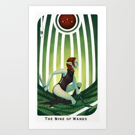 The Nine of Wands Art Print