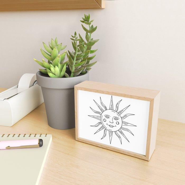 Smiling Sun Framed Mini Art Print