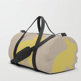 Cute Yellow Bunny Duffle Bag