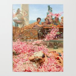 The Roses of Heliogabalus by Sir Lawrence Alma-Tadema Poster