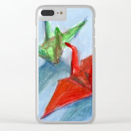 Origami Cranes Clear iPhone Case