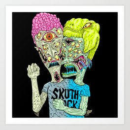 Monster Buddys Art Print