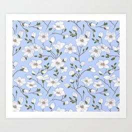 Gentle Array of White Periwinkles Art Print