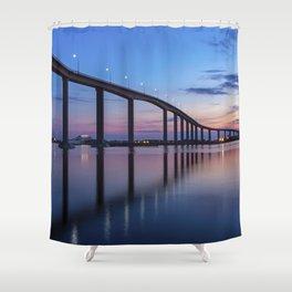The Jordan Bridge at Twilight Shower Curtain