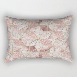 Modern rose gold geometric star flower pattern Rectangular Pillow