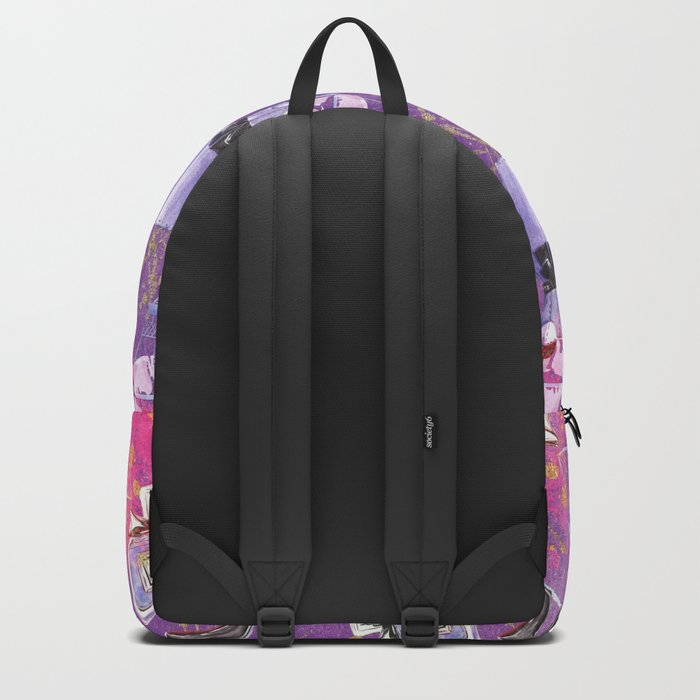 Fashion Victim - Paris France Elegance Shopping Girly in pink and purple Backpack