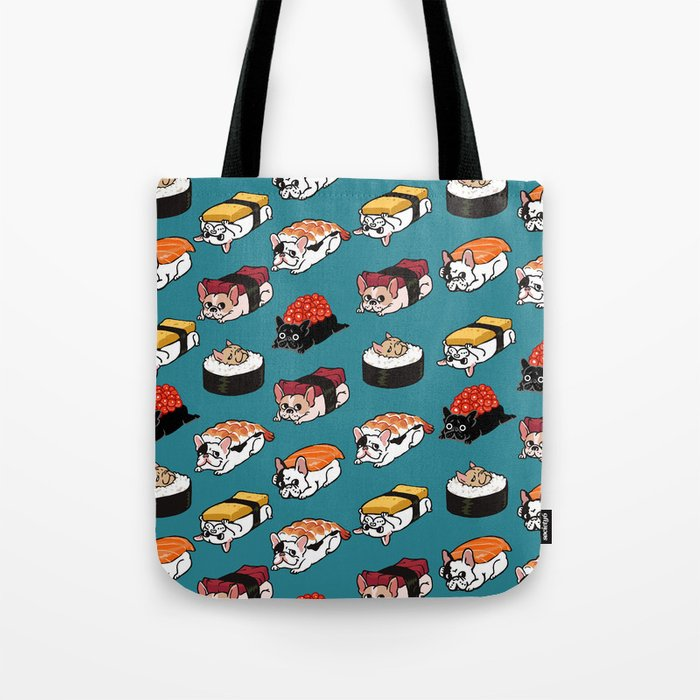 Sushi Frenchie Tote Bag