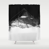 crystal Shower Curtains featuring Crystal Mountain by Schwebewesen • Romina Lutz
