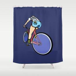 Fixie Cyclist Shower Curtain