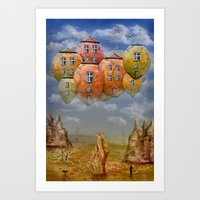 home sweet home Art Prints featuring Sweet Home by teddynash