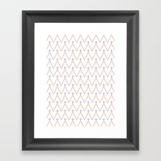 Chevron and dots 2 Framed Art Print