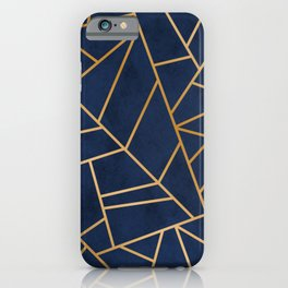 Art Deco Blue iPhone Case