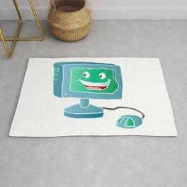 Computer Smile. Rug