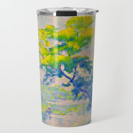 Bending Tree 1905 Henri-Edmond Cross Neo-Impressionism Pointillism Oil Painting Travel Mug