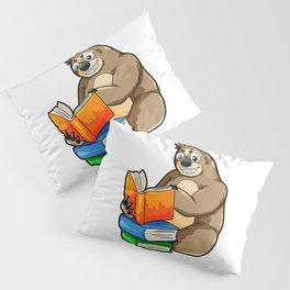 Reading Sloth Literacy Book Knowledge Exam Study Pillow Sham