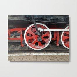 Railway transport details of locomotive the wagon Metal Print