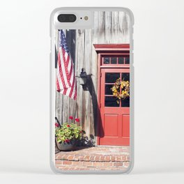 Small Town America Clear iPhone Case