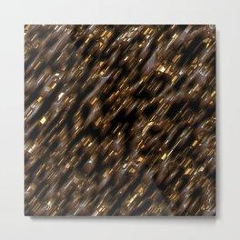 Brown gold diagonal Metal Print