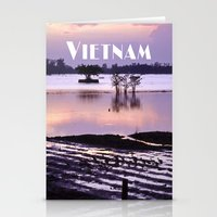 vietnam Stationery Cards featuring MEKONGDELTA - VIETNAM  by CAPTAINSILVA