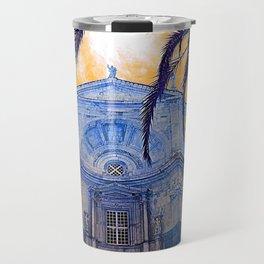Catedral de Cadiz Blue Travel Mug
