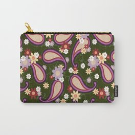 Flowery Paisley Carry-All Pouch