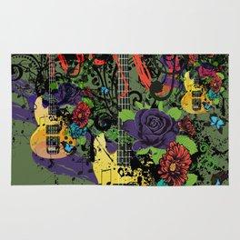 Grunge Guitar Illustration Rug