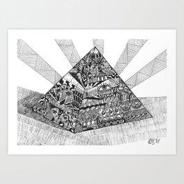A pyramid Art Print
