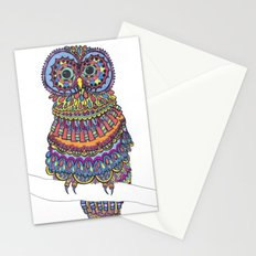 Patterned Owl Stationery Cards