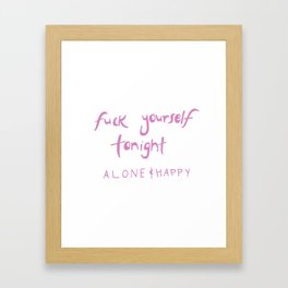 Fuck yourself Framed Art Print