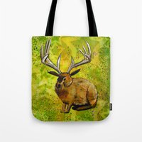 jackalope Tote Bags featuring Jackalope by Rob Sassi
