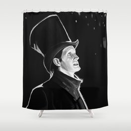 The Doctor in the Snow Shower Curtain