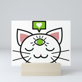Wise cat Mini Art Print