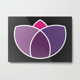 Purple Lotus Metal Print
