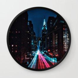 Light Trails Wall Clock