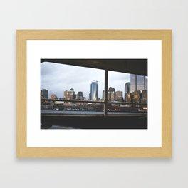seattle by sea. Framed Art Print