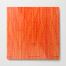 Geometry orange Metal Print