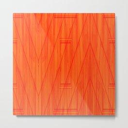 Geometry orange Metal Print