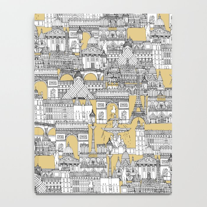 Paris toile gold Notebook
