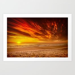 Sunrise over the Atlantic from the Outer Banks, North Carolina Art Print