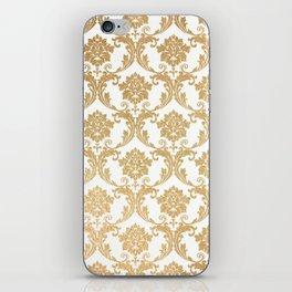 Gold swirls damask #4 iPhone Skin