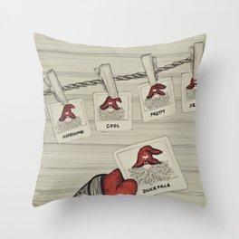 """""""Tomten Elmer's"""" Duckface. Throw Pillow"""