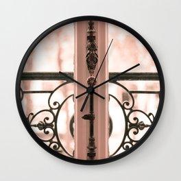Paris in Blush Pink III Wall Clock