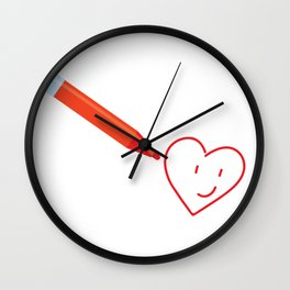 Drawing the love Wall Clock