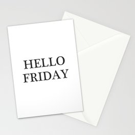 Hello Friday | Weekend lovers gift Stationery Cards