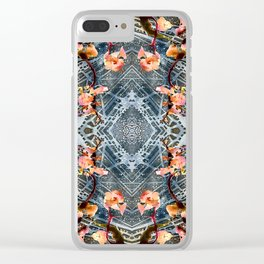 Web of Blossoms Clear iPhone Case