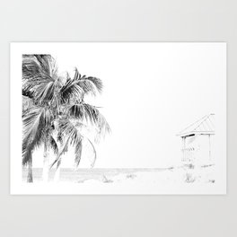 Lifeguard House Art Print