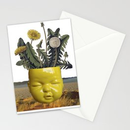 realismo magico - yellow Stationery Cards