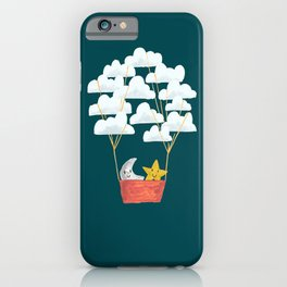 Hot cloud baloon - moon and star iPhone Case